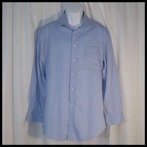 Slim Fit Wrinkle-free Blue Dress Shirt